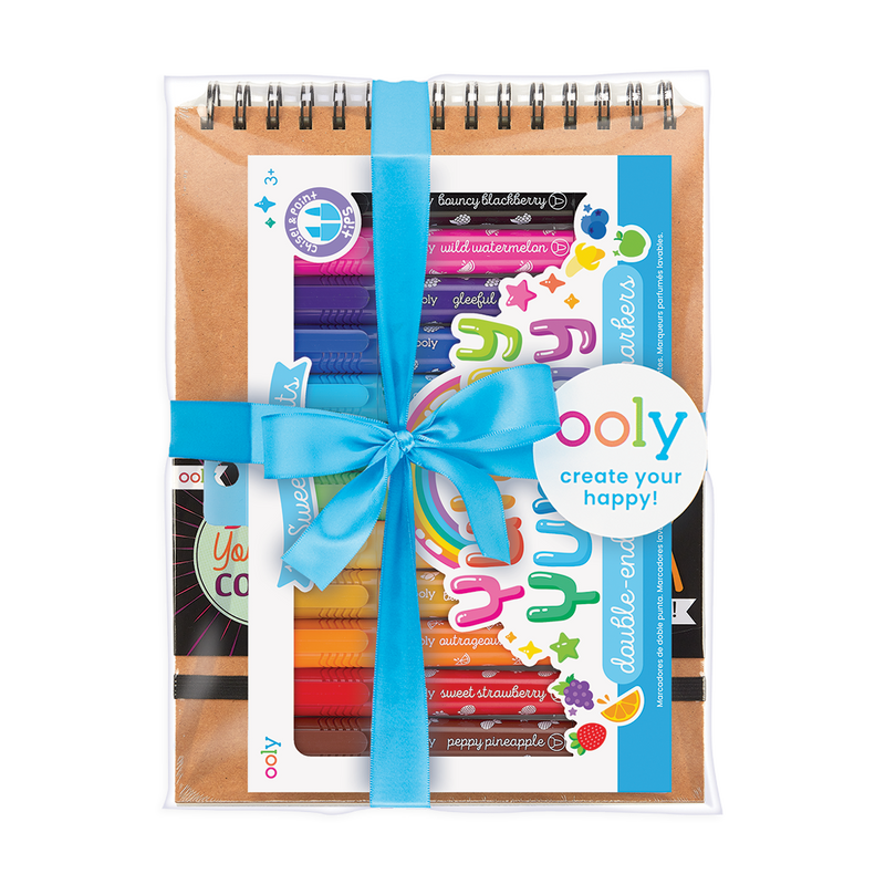 Scented Doodlers pre-wrapped coloring gift set for kids