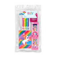 Unicorns Unite Happy Pack with Unicorn pencils, notebooks, eraser and sharpener in a zipper pouch