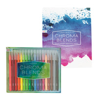 Chroma Blends Creative Sketch Pack with Chroma Blends brush markers and watercolor paper