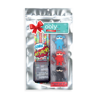 Image of OOLY Comic Attack Holiday Happy Pack in package