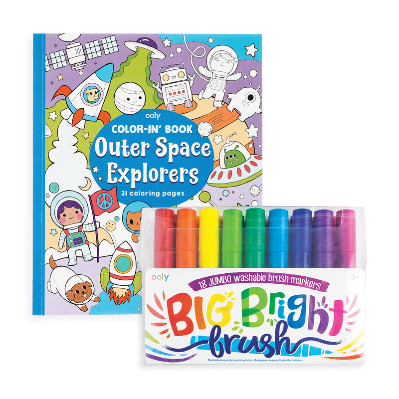 Big and Bright Outer Space Coloring Pack out of packaging