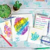 """Be-You-Tiful"" words painted with watercolor on a Chroma Blends Watercolor Paper Pad"