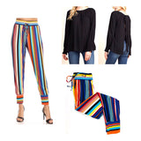 Rainbow Stripe Jogger Pants