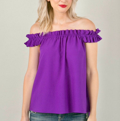 Purple On or Off the Shoulder Top