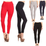 HIGH WAISTED Moto Leggings in Black, Navy, Red, Khaki, Charcoal, Olive or Grey