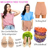 Bright Coral Orange OR Brushed Tan High Waisted Dressy Shorts