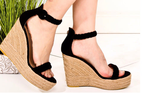 Braided Black Espadrilles