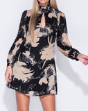 Floral Keyhole Cut Shift Dress