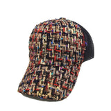 Metallic Gold Tweed Trucker Caps in Black, White OR Pink
