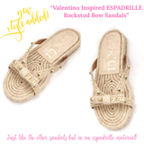 Valentino Inspired ESPADRILLE Rockstud Bow Sandals