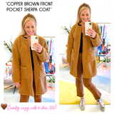 Brown Front Pocket Sherpa 'Teddy' Coat