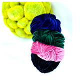 Navy, Emerald Green, Black or Raspberry Wide Velvet Top Knot Headband