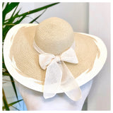Straw Sun Hats with Burlap Bow in 3 Styles