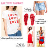 White Spread the LOVE Knit Tee
