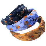 GG Print Orange Bee Headbands in Black Lavender & Marigold
