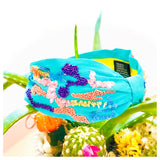 HANDMADE Aqua Pink Lavender Yellow Under the Sea Headband with Lime Interior Contrast