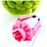 Pink or Black Flower Inspired Top Knot Headband