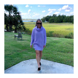 Lilac Oversized Slouchy Sweater Dress OR Tunic