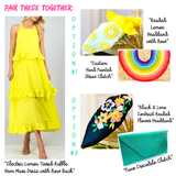 Electric Lemon Tiered Ruffle Hem Maxi Dress with Bow Back