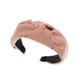 Leather Top Knot Headbands in 5 Colors