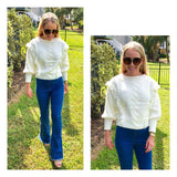 Ivory Fringe Knit Sweater