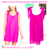 Pinkberry Scoop Neck Sleeveless Bow Shoulder Shift Dress