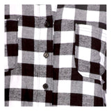 Black & White Buffalo Check Button Down High Low Shirtdress with POCKETS!