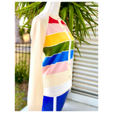 Ivory Rainbow Knit Cardigan