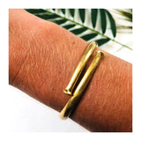 Brushed Gold Nailhead Cuff Bracelet