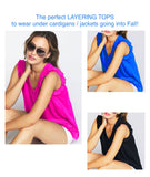 Royal Blue, Black or Fuchsia Ruffle Sleeve V-Neck Top (perfect for layering under cardigans for Fall)