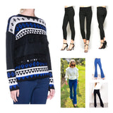 Cobalt Blue & Black Abstract Sweater with Tassel Detail