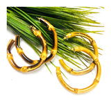 Bamboo Hoops in Dark or Light Bamboo