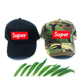 Super Baseball Caps in Camo OR Black