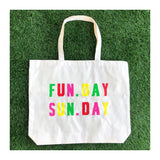 Sunday Funday Canvas Tote