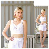 White Bow Front Matching Set (sold together)
