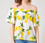 Lemon Off the Shoulder Top