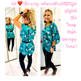 Troop Palm Springs Pink & Green Palm Leaf Tunic