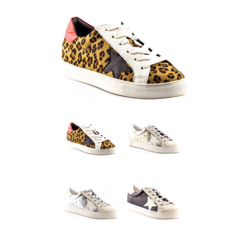 GG Inspired Star Sneakers LEOPARD