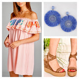 Corral Embroidered Off the Sleeveless Shoulder Dress