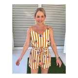Marigold & White Cabana Stripe Abstract Design Cami