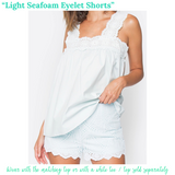 Light Seafoam Eyelet Shorts