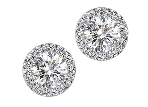 CZ Diamond Solitaire Studs