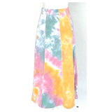 Tie Dye Knit One Shoulder Bow Top & Matching Skirt SET