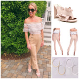 Nude OR Black Flutter Criss Cross Heels