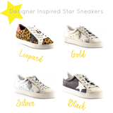 GG Inspired Star Sneakers SILVER