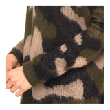 Camo Fuzzy Knit Sweater