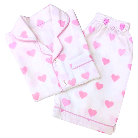 Little West CHILDRENS Monogrammed Hearts PJ Shorts Set