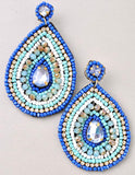 Multicolor Beaded Teardrop Earrings