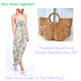 Handmade Hyacinth Wavy Clamshell Structured Straw Tote