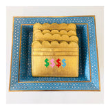 Metallic Gold Scalloped Card Holder